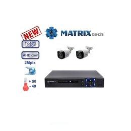 Камеры видеонаблюдения - Комплект видеонаблюдения на 2 камеры Matrix Tech., 0
