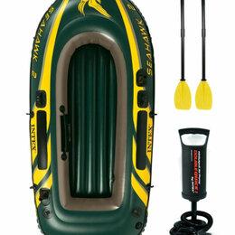 Надувные, разборные и гребные суда - Двухместная надувная лодка для рыбалки новая, 0