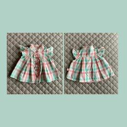 Рубашки и блузы - Блузка для девочки 0-3 мес с лосинами, 0