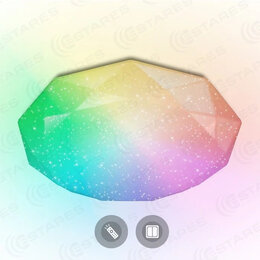 Люстры и потолочные светильники - Новая Люстра с RGB освещением на пульте Бриллиант, 0