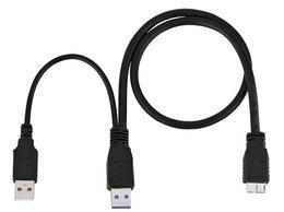 Компьютерные кабели, разъемы, переходники - Кабель для внешнего диска USB3.0 - microUSB3.0, 0