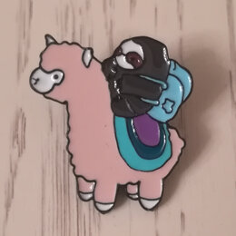 Броши - брошка лама , 0