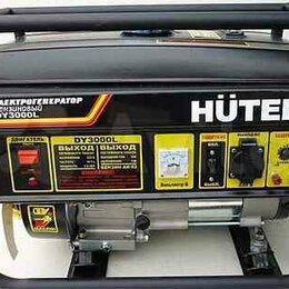 Электрогенераторы и станции - Бензогенератор huter DY3000L, 0