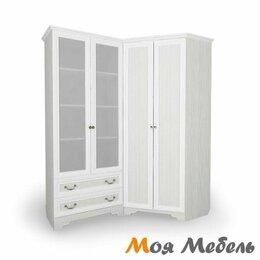 Шкафы, стенки, гарнитуры - Угловой блок № 2 Шкаф угловой + Стеллаж со стеклянными дверцами с Левой сторон, 0
