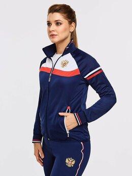 Спортивные костюмы - Спортивный костюм женский RUSSIA 10SKM-895, синий, 0