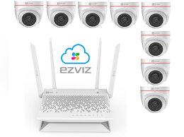 Камеры видеонаблюдения - Комплект на 8камер ezviz С4W +Vault Plus, 0