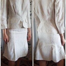 Костюмы - Хлопковый белый костюм, 0