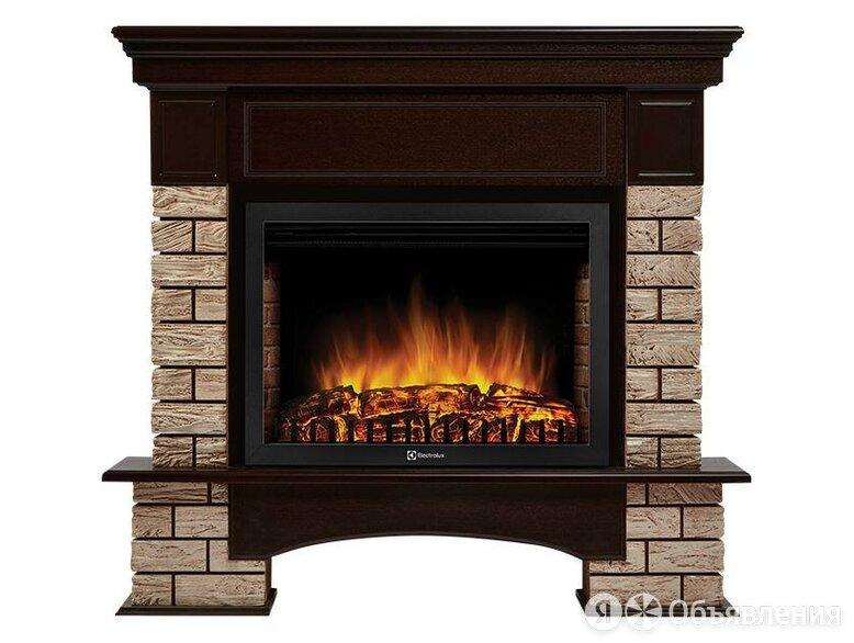 Портал Forte Wood 25 камень коричневый, шпон темный дуб по цене 26490₽ - Наборы и аксессуары для каминов и печей, фото 0