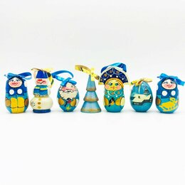 Новогодние фигурки и сувениры - Елочные игрушки матрешки. Новогодний подарок., 0