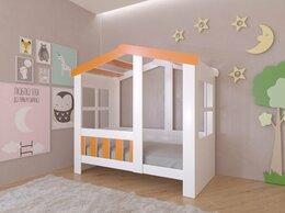 Кровати - Детская кровать-домик Астра  белый-оранжевый 9…, 0
