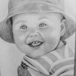 Рисование - Портрет по фото простым карандашом. , 0