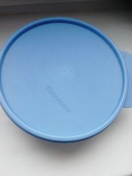 Контейнеры и ланч-боксы - Контейнер голубой Таппервер круглый Tupperware, 0