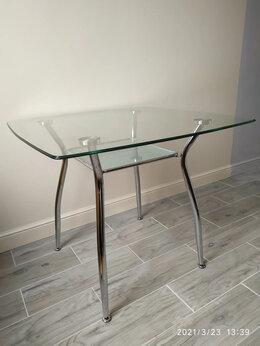 Столы и столики - Новые столы стеклянные квадратные 90х90х75, 0