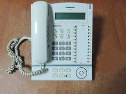 VoIP-оборудование - Цифровой системный телефон Panasonic KX-T7633RUW, 0