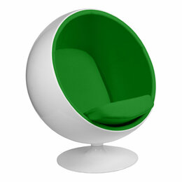 Кресла - Кресло Eero Aarnio Style Ball Chair зеленая ткань, 0
