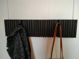 Вешалки настенные - Дизайнерская деревянная вешалка 15 крючков, 0