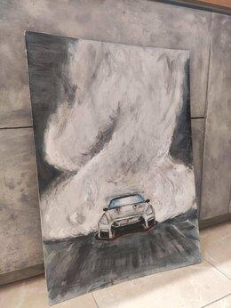 Картины, постеры, гобелены, панно - Картина маслом Nissan GTR, 0