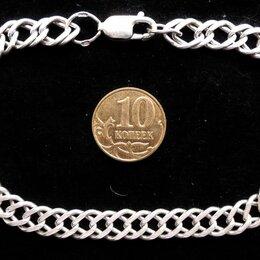 Комплекты - Серебряный браслет Двойной Ромб.Вес 12 грамм,длина 21,5 см, 0