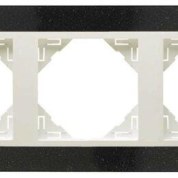 Фоторамки - 3-х местная рамка, натуральный гранит / лёд, Efapel, 0