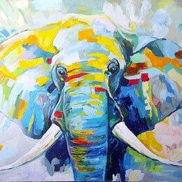 """Картины, постеры, гобелены, панно - Картина маслом на холсте """"Слон"""", 0"""