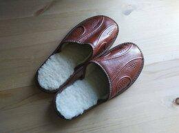 Домашняя обувь - Тапочки из овчины, 0