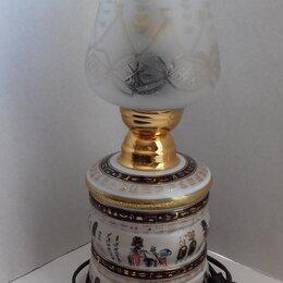 Ночники и декоративные светильники - Настольная лампа, основание египетский фарфор, 0