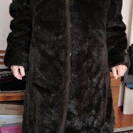 Шубы - Шуба под норку женская длинная 58-60 размер, 0