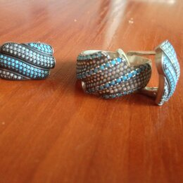 Комплекты - Серьги, кольцо, 0