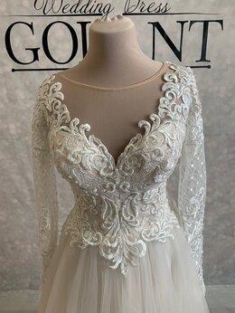 Платья - Непышное блестящее свадебное платье Ника, 0