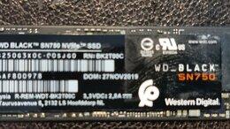 Внутренние жесткие диски - Твердотельный накопитель SSD wd black sn750 250GB, 0