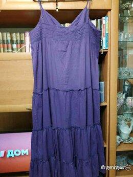 Платья - фиолетовый сарафан х/б, 0
