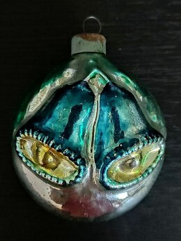 Ёлочные украшения - коллекционная винтажная елочная игрушка медальон…, 0