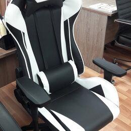 Компьютерные кресла - Геймерское кресло Lotus S6 экокожа Черный-белый, 0