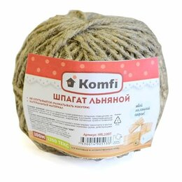 Упаковочные материалы - Шпагат льняной 1,25 ктекс 100м Komfi HRL100T /40, 0