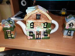 Сервизы и наборы - Керамический набор - чайник + 2 солонки, 0