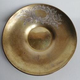 Кружки, блюдца и пары - Антикварное серебряное блюдце 84пр.  , 0
