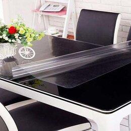 Скатерти и салфетки - Прозрачная скатерть на стол 60x120 толщина 1 мм плёнка мягкое стекло, 0
