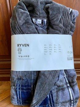 Домашняя одежда - Халат IKEA RYVEN  Мужской  махровый новый, M (на…, 0