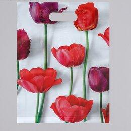 Рукоделие, поделки и товары для них - Пакет полиэтиленовый Тюльпаны с вырубной,…, 0