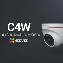 Камеры видеонаблюдения - Wi-Fi видеокамера для улицы и помещения Ezviz C4W, 0