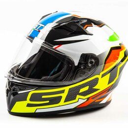 Мотоэкипировка - Шлем мото интеграл GTX 578 (M) #2 BLACK/ ORANGE GREEN, 0