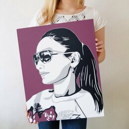 Картины, постеры, гобелены, панно - Портрет в стиле Поп Арт (Pop art), 0