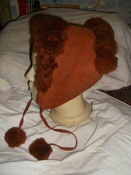 Головные уборы - шапка дубленая новая винтаж, 0