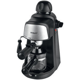Кофеварки и кофемашины - Кофеварка рожковая Scarlett SC-037, 800Вт, 2-4 чашки, 0