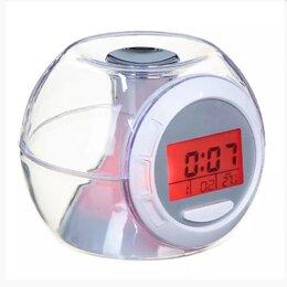 Часы настольные и каминные - Часы-будильник с термометром, 7 цветов свечения, 0