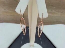 Серьги - Золотые серьги • Женские без камней, проба 585°, 0