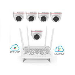 Камеры видеонаблюдения - Комплект на 5камер ezviz С4W +Vault Plus, 0