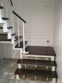 Лестницы и элементы лестниц - Лестница из металла в частный дом на второй этаж , 0