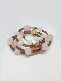 Браслеты - Браслет (розовый кварц), 0