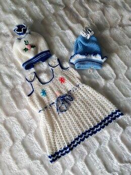 Комплекты - Вязаное платьице на девочку!, 0